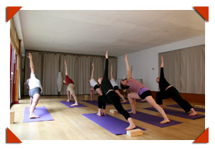 photo cours de yoga
